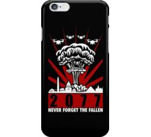 2077 Never Forget The Fallen V2 iPhone Case/Skin