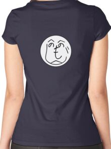 Hehenomonoheji Face - Nindogs Women's Fitted Scoop T-Shirt
