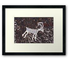 Avikwame petroglyph Framed Print