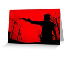 The Walking Dead - Rick Greeting Card