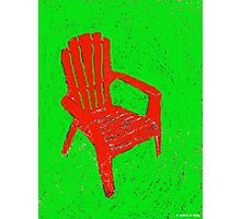 Red lawn chair Photographic Print