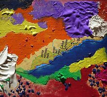 Alberta Canada abstract collage by JoAnnFineArt