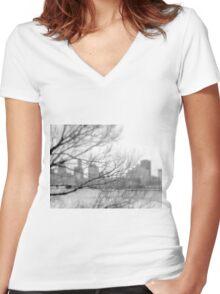 Buffalo, New York Women's Fitted V-Neck T-Shirt