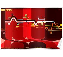 Pulp Fiction Timeline Poster