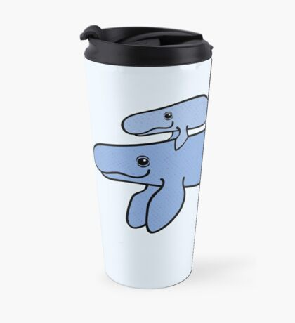 Blue Whale with Baby Travel Mug