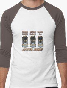 He Hits It High...! Men's Baseball ¾ T-Shirt