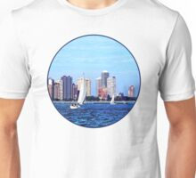 Chicago IL - Two Sailboats Against Chicago Skyline T-Shirt