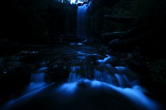 Falling Through Blue by Geoff  Coleman - Landscapes