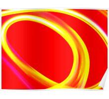 Red & Yellow Swirl Poster