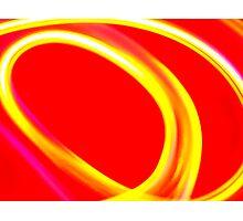 Red & Yellow Swirl Photographic Print