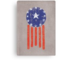 Old World America Flag Canvas Print