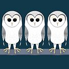 OWL TRIPLETS by Jean Gregory  Evans