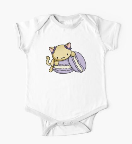 Macaron Kitty One Piece - Short Sleeve