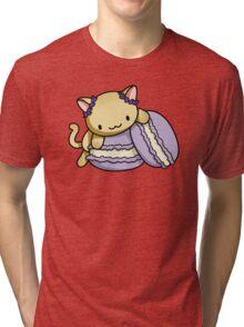 Macaron Kitty Tri-blend T-Shirt