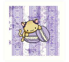 Macaron Kitty Art Print