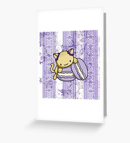 Macaron Kitty Greeting Card
