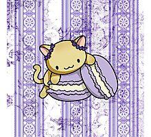 Macaron Kitty Photographic Print