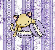 Macaron Kitty by fushiginaringo