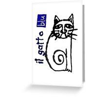 il gatto blu Greeting Card