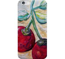 Cherries on White Chocolate iPhone Case/Skin