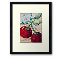 Cherries on White Chocolate Framed Print