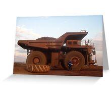 Big Truck ~ Mt.Tom Price Greeting Card