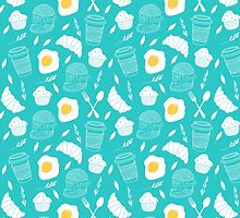 Breakfast pattern by Rin Rin