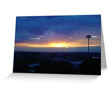 Sunset from Shangri-la (final) Greeting Card