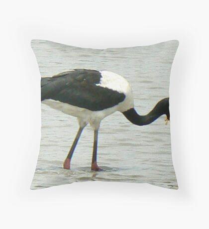 Saddle-billed Stork (II) Throw Pillow