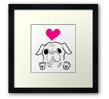 Love Pug Framed Print