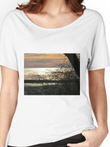 Lake Erie, Ontario Sunset Women's Relaxed Fit T-Shirt