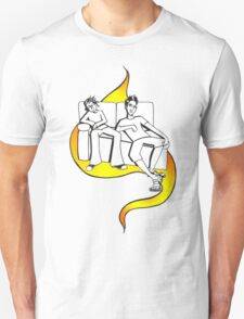 Procrastinate - flame drop T-Shirt