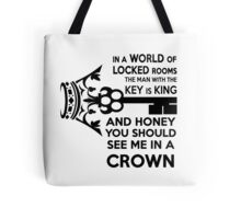 Moriarty Key Quote - Black Text Tote Bag