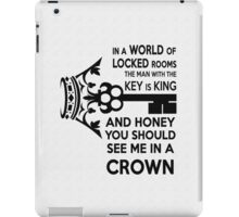 Moriarty Key Quote - Black Text iPad Case/Skin