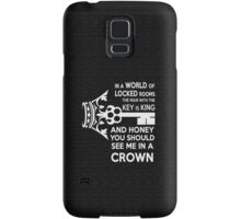 Moriarty Key Quote - White Text Samsung Galaxy Case/Skin