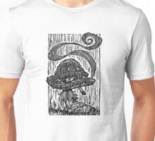 """""""Stoned Shroom"""" Woodcut  Unisex T-Shirt"""