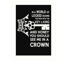 Moriarty Key Quote - White Text Art Print