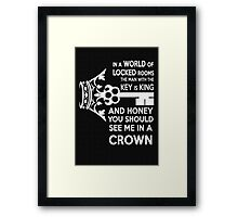 Moriarty Key Quote - White Text Framed Print