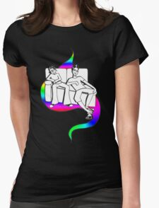 Procrastinate - rainbow drop Womens Fitted T-Shirt