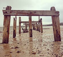 Old Wooden Pier by eimeoreilly