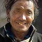 A smile from Tibet by Phillip  McCordall