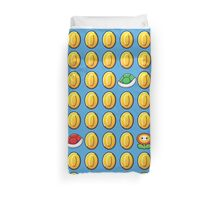 Mario Coins Shells and Fire Power Duvet Cover