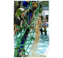 Fisherman's Jeweled Necklace - NZ - Port Chalmers Poster