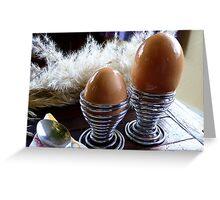 Large or Small - Eggs - NZ - Southland  Greeting Card