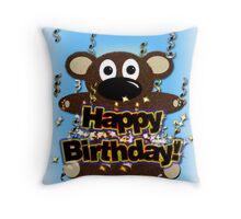 Happy Birthday Card 01 Throw Pillow