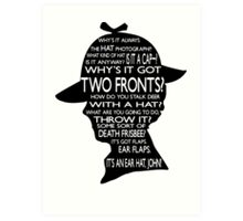 Sherlock's Hat Rant - Light Art Print