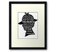 Sherlock's Hat Rant - Light Framed Print