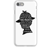 Sherlock's Hat Rant - Light iPhone Case/Skin