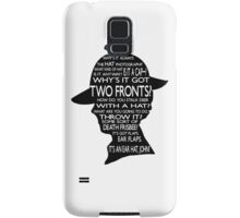 Sherlock's Hat Rant - Light Samsung Galaxy Case/Skin