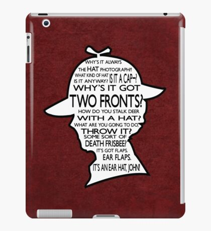 Sherlock's Hat Rant - Light iPad Case/Skin